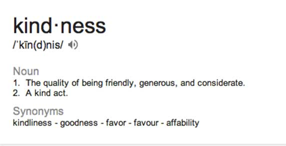 Image result for kindness definition