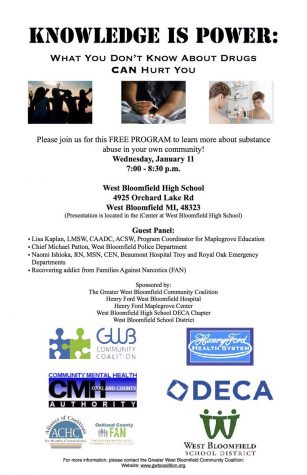 DECA Students Host Panel on Substance Abuse