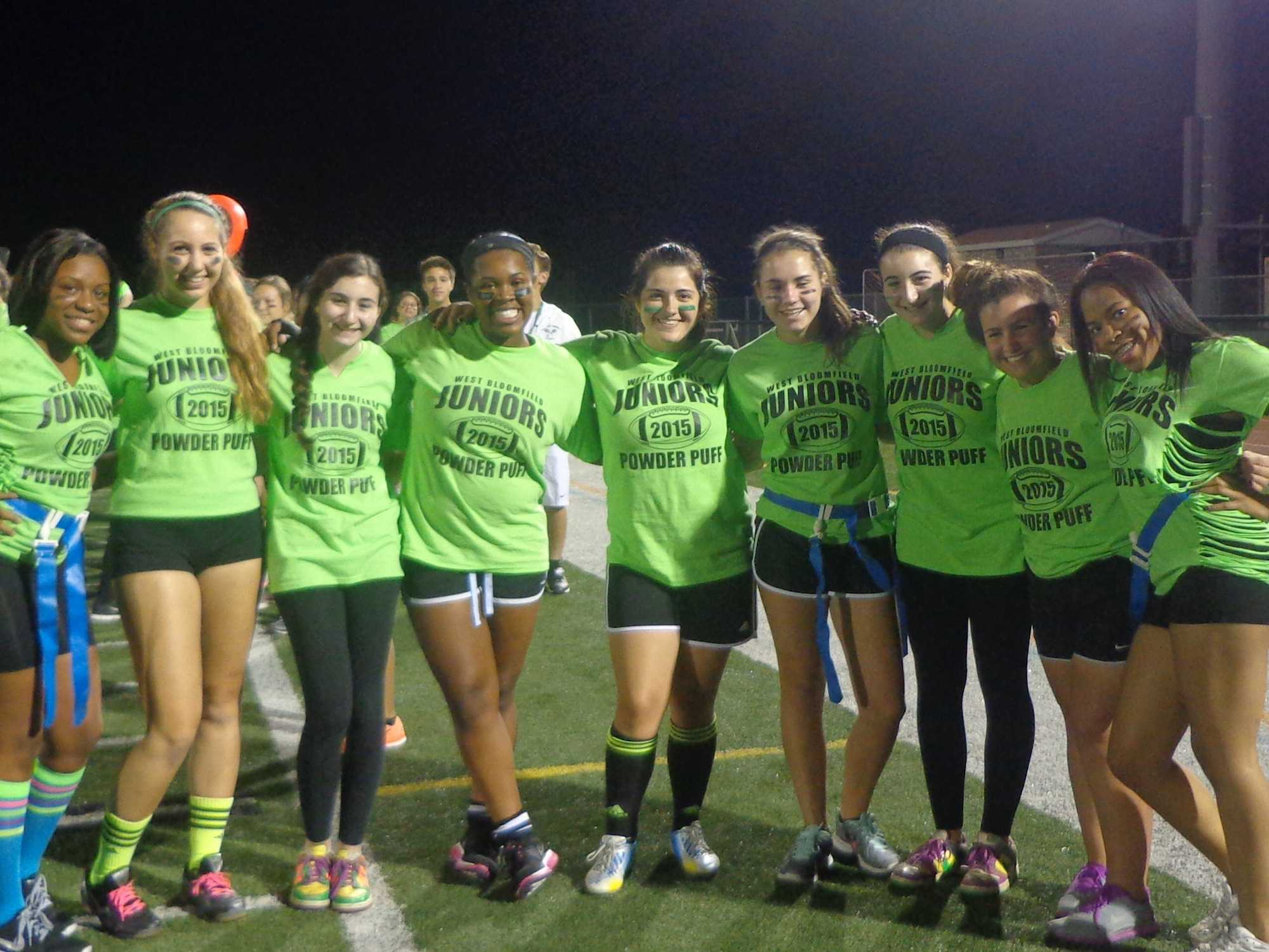 Part of the Junior Powder Puff Team