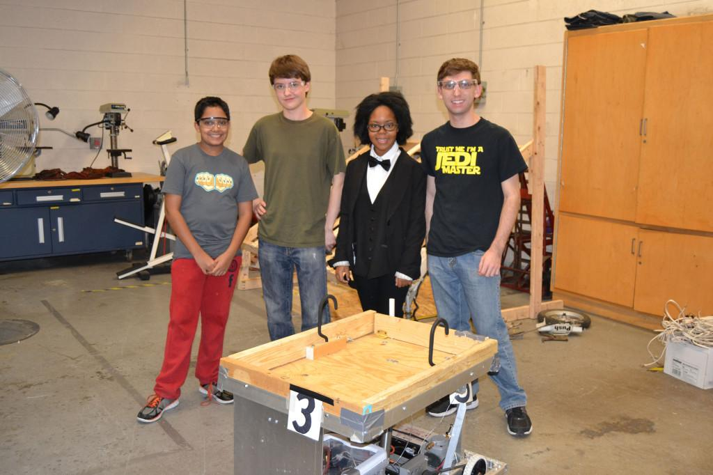 Team members and their robot