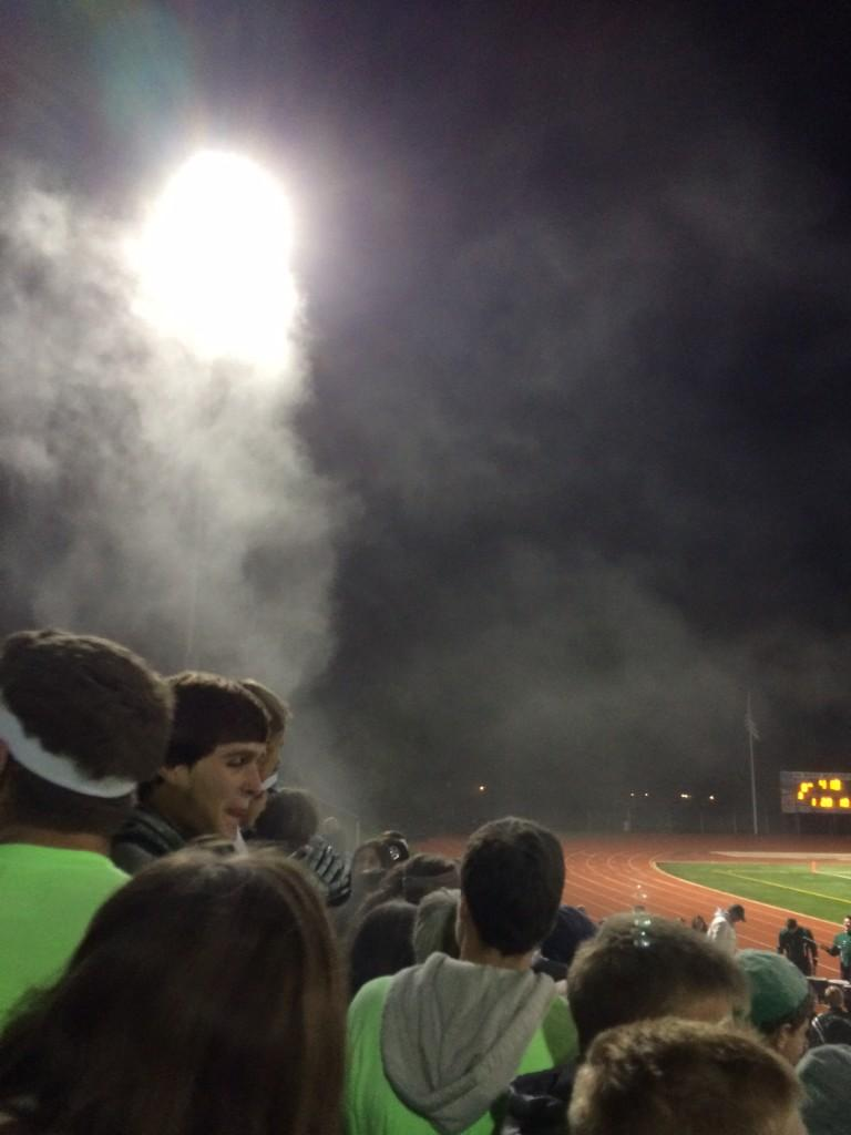 West Bloomfield football student section, October 25th, 2013.