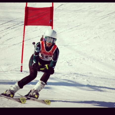 Adrian Oliver skiing at past competition