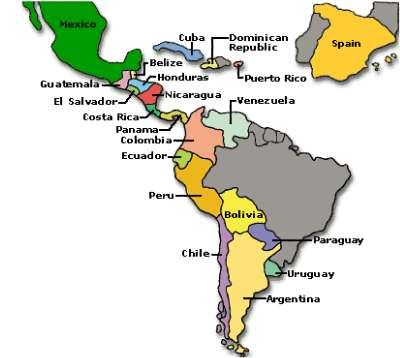 These are ALL of the countries with Spanish as their first language!