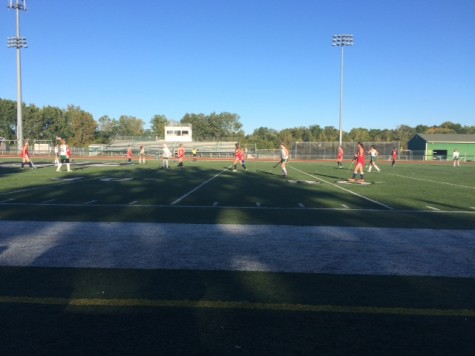 WBHS team playing under the bright blue sky!