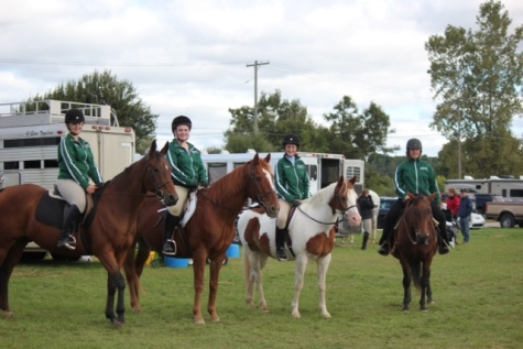 Riders Sabrina Burrill, Madison Hartz, Abigail Brickman, and Ana Weinfurther. Photo Credits to Heidi Burrill