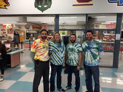 WBHS administrators show off their tie dye!