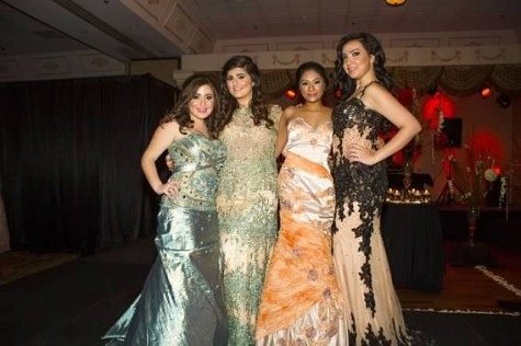 Dana Betty and Sidrah Saleem and I in November when we walked in a fashion show for a charitable cause.