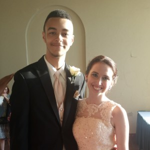 Senior Emily Rooks and her prom date, junior, Perry Quarker