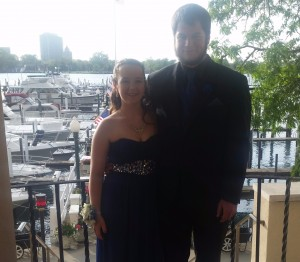 Carine Ingweiller 12th grade, and date Joseph Boyle, 11th grade