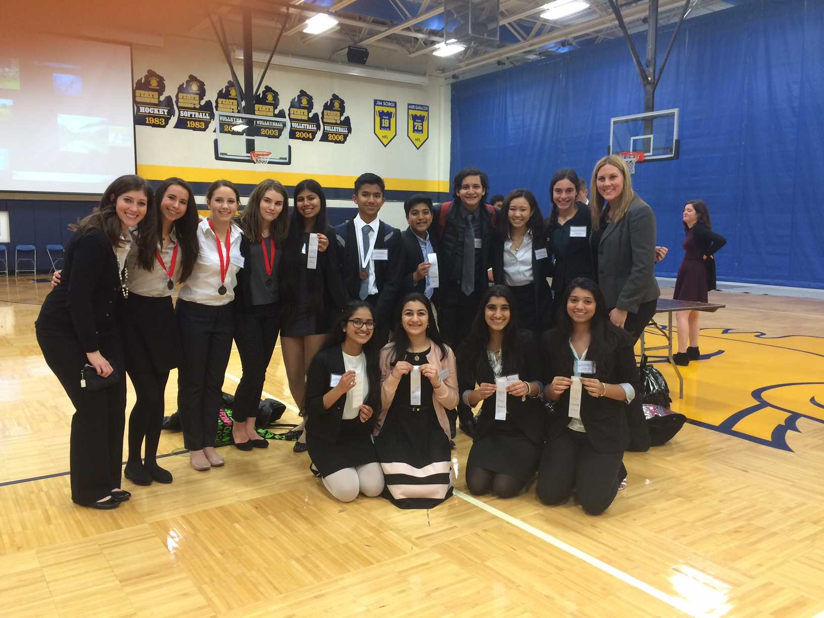 HOSA competitors, after the competition.