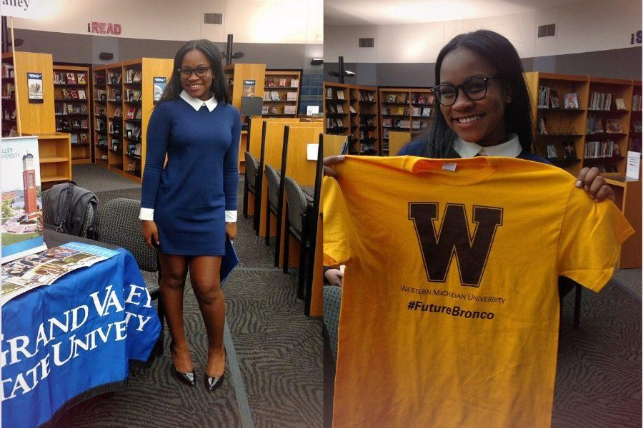 Diara Walker got accepted into Western Michigan University as well as Grand Valley State University.