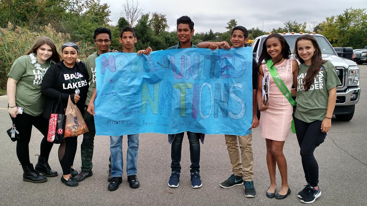 The Model United Nations club banner