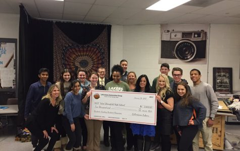 The LaFontain family surprised the club with a large check.
