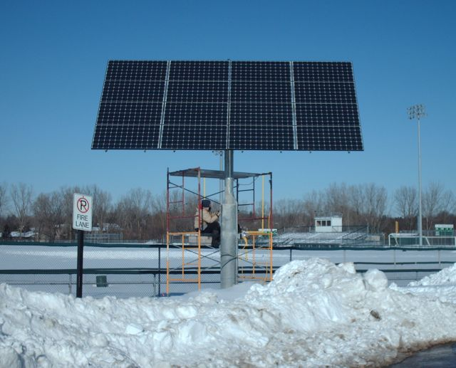 Pictured above: WBHS's current solar array.