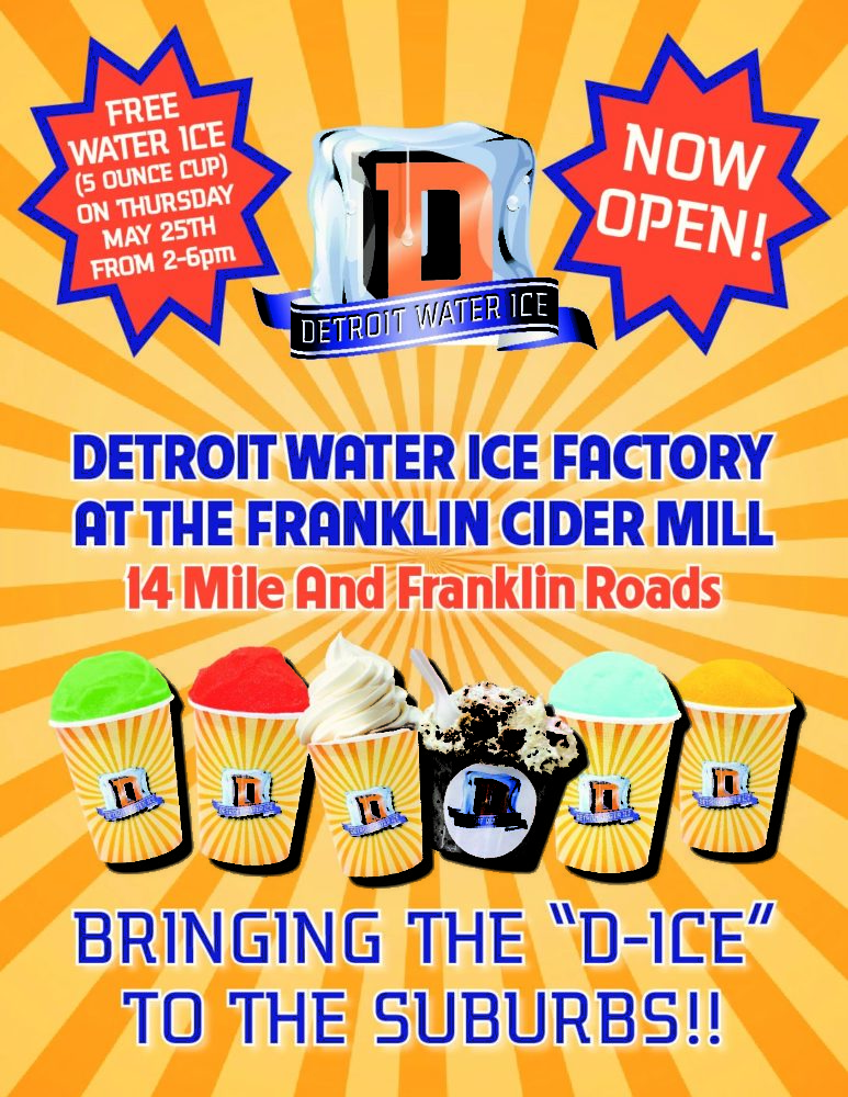 Detroit Water Ice @ Franklin Cider Mill Now Open