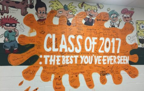 Class of 2017 Leaves 90s Themed Mural