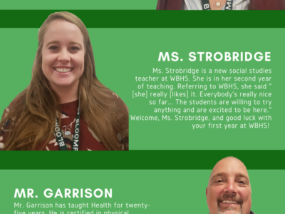 Infographic: Meet this year's new and returning teachers at WBHS
