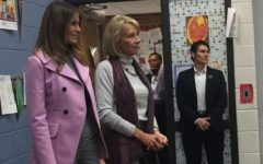 First Lady Melanie Trump visits Orchard Lake Middle School