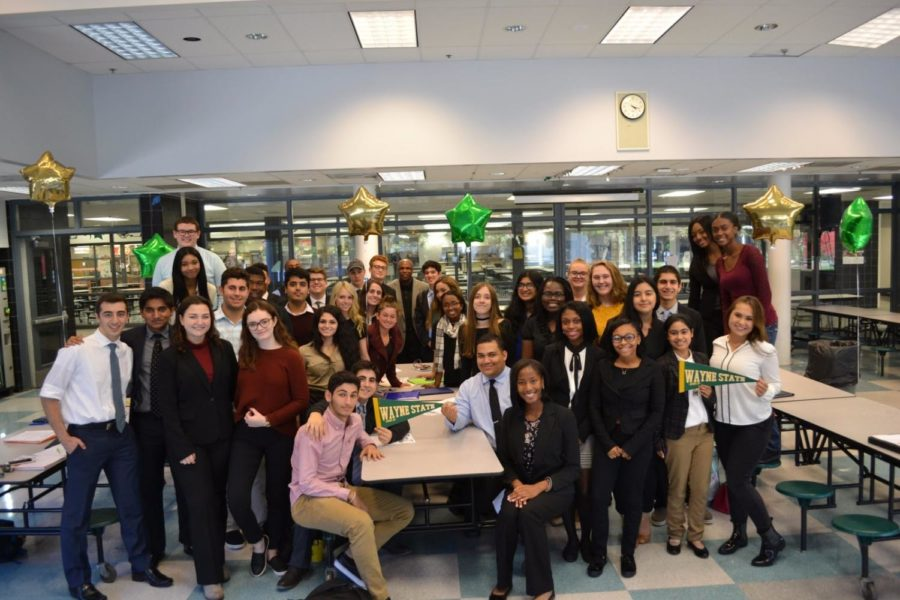 WBHS+seniors+admitted+to+Wayne+State+University.+Photo+courtesy+of++%40WBHSCounseling+on+Twitter.+