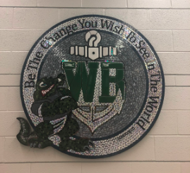 The new mosaic of WBHS.